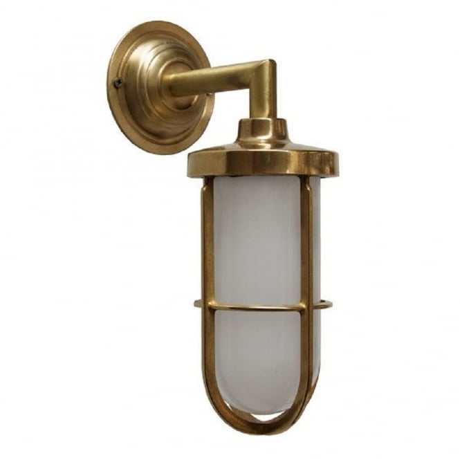 101 Indoor Nautical Style Lighting Ideas: Indoor Or Outdoor Nautical Wall Light In Satin Brass With
