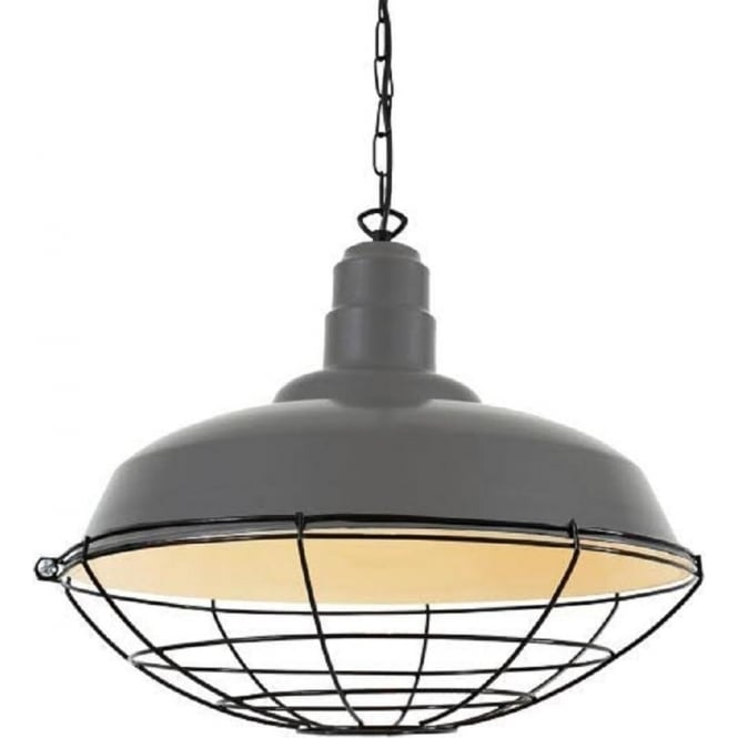 Long Drop Large Grey Industrial Ceiling Pendant Light With