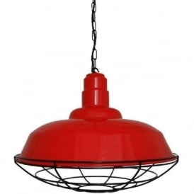 COBAL industrial style red metal factory pendant light