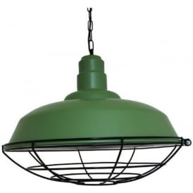 COBAL industrial style sage green metal factory pendant light