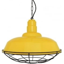 COBAL industrial style yellow metal factory pendant light