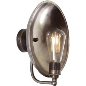 CULLEN industrial steampunk dish wall light with reflector shade