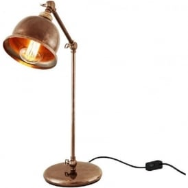 DALE retro design adjustable desk lamp in antique brass