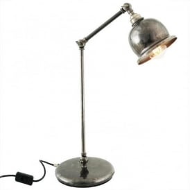 DALE retro design adjustable desk lamp in antique silver