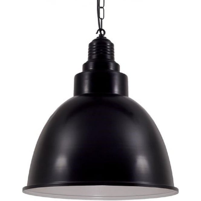 Vintage Industrial Black Metal Ceiling Pendant For