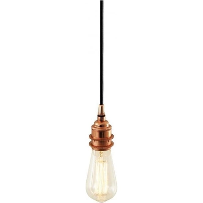 Copper pendant suspension for using with bare vintage filament bulbs dili bare bulb pendant suspension polished copper aloadofball Choice Image