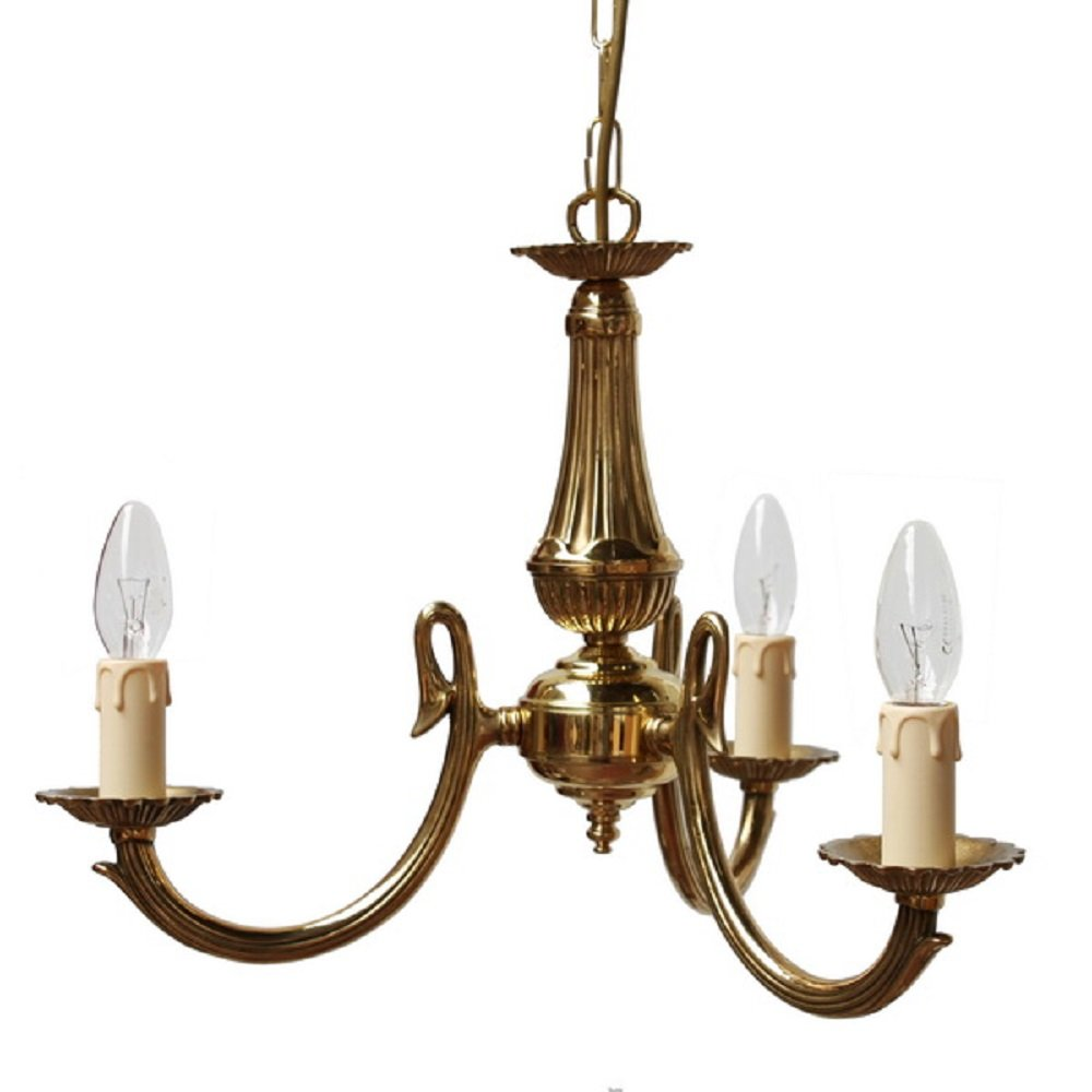 Traditional Gold Candle Style Candelabra Ceiling Light