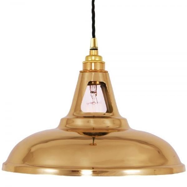 Vintage Brass Ceiling Pendant Light In Industrial Vintage Syle