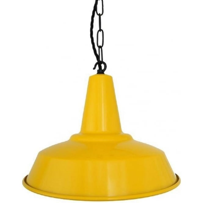 Vibrant Yellow Metal Kitchen Ceiling Pendant Light With A