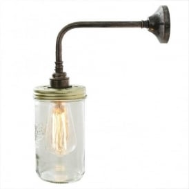 JAM JAR vintage Le Parfait glass jar wall light - antique silver fitting