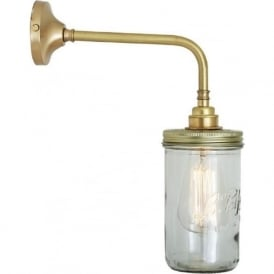 shaker style lighting. jam jar vintage le parfait glass jar wall light satin brass fitting shaker style lighting y