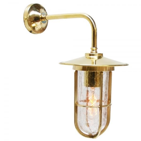 Gold Brass Vintage Industial Factory Wall Light With