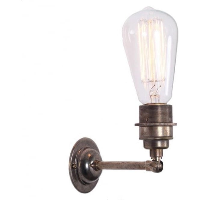 Monaghan Lighting LOME industrial style bare bulb wall light fitting - antique silver