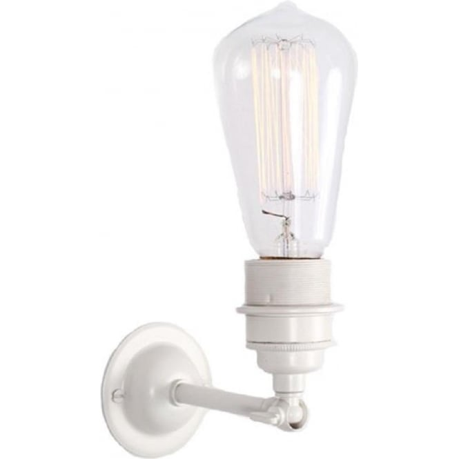 Industrial Style White Painted Metal Wall Light, Use With