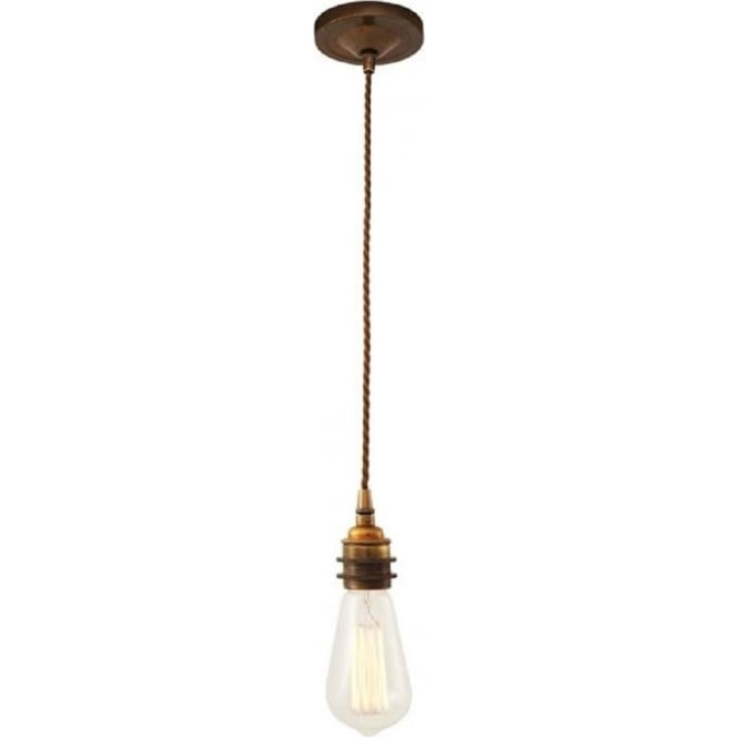 Lome industrial style single bare bulb pendant suspension for Industrial bulb pendant