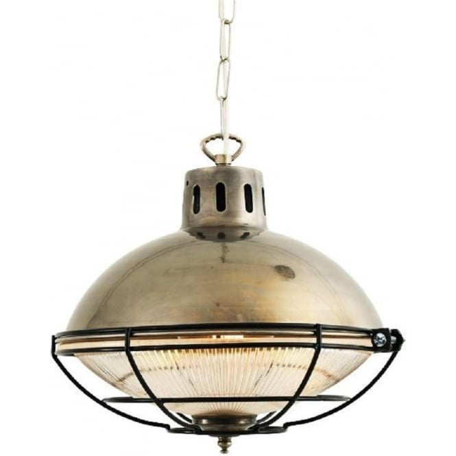 Antique silver hanging ceiling pendant light in rustic industiral style marlow rustic industrial metal ceiling pendant light in antique silver mozeypictures Choice Image