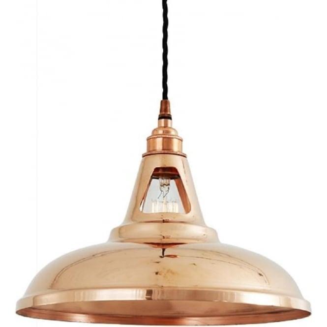 buy online 313de bf7ba MINSK vintage industrial ceiling pendant light - polished copper