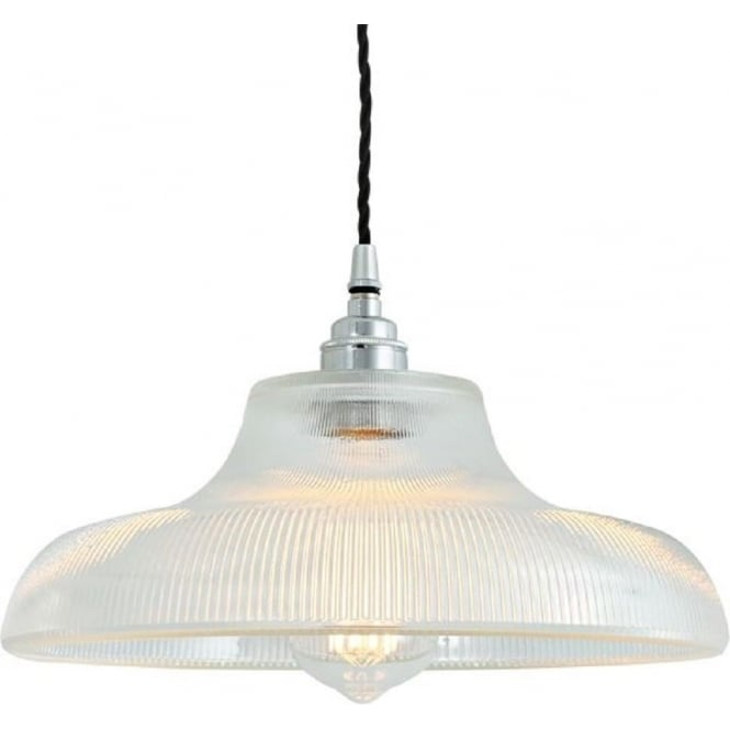 Railway Station Lamp Pendant Light With Ribbed Prismatic