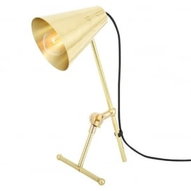MOYA adjustable and angled gold polished brass desk lamp or task light