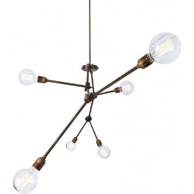 OTTAWA 6 Light Modern Open Bulb Ceiling Light With Adjustable Arms