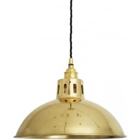 PARIS vintage polished brass ceiling pendant light