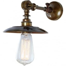 PORTER adjustable industrial style aged brass wall light