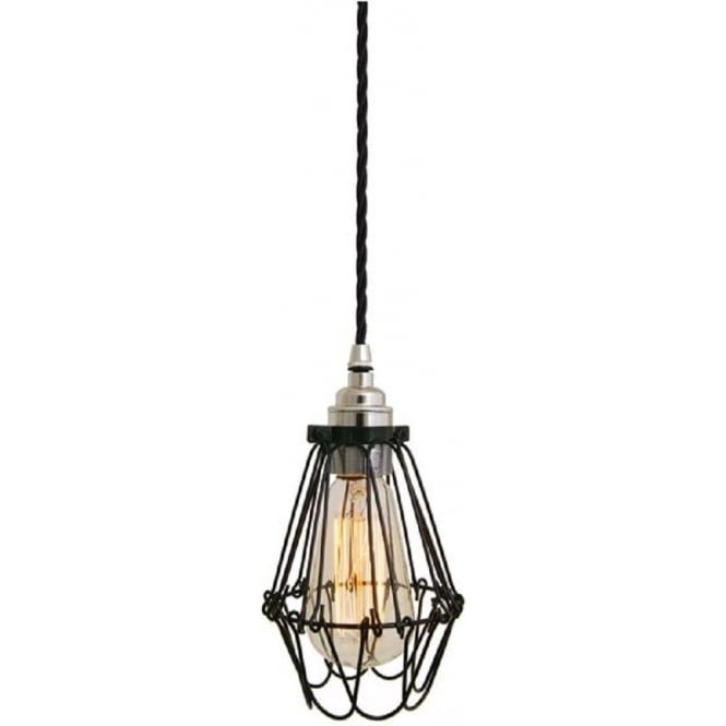 Factory industial ceiling pendant light black fitting and black cable praia black industrial pendant light on black braided cable mozeypictures Images