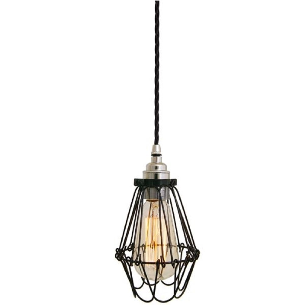 Factory Industial Ceiling Pendant Light Black Fitting And