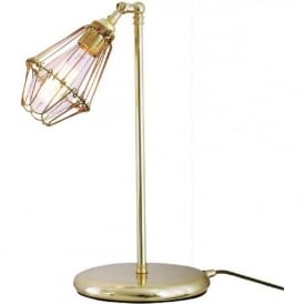 PRAIA industrial retro style adjustable table lamp or desk light - polished brass