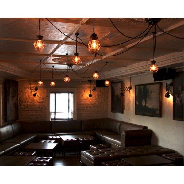 Smartwares Industrial Es Pendant Light Black Bronze: Pendant Cluster Ceiling Light With 5 Industrial Style Cage
