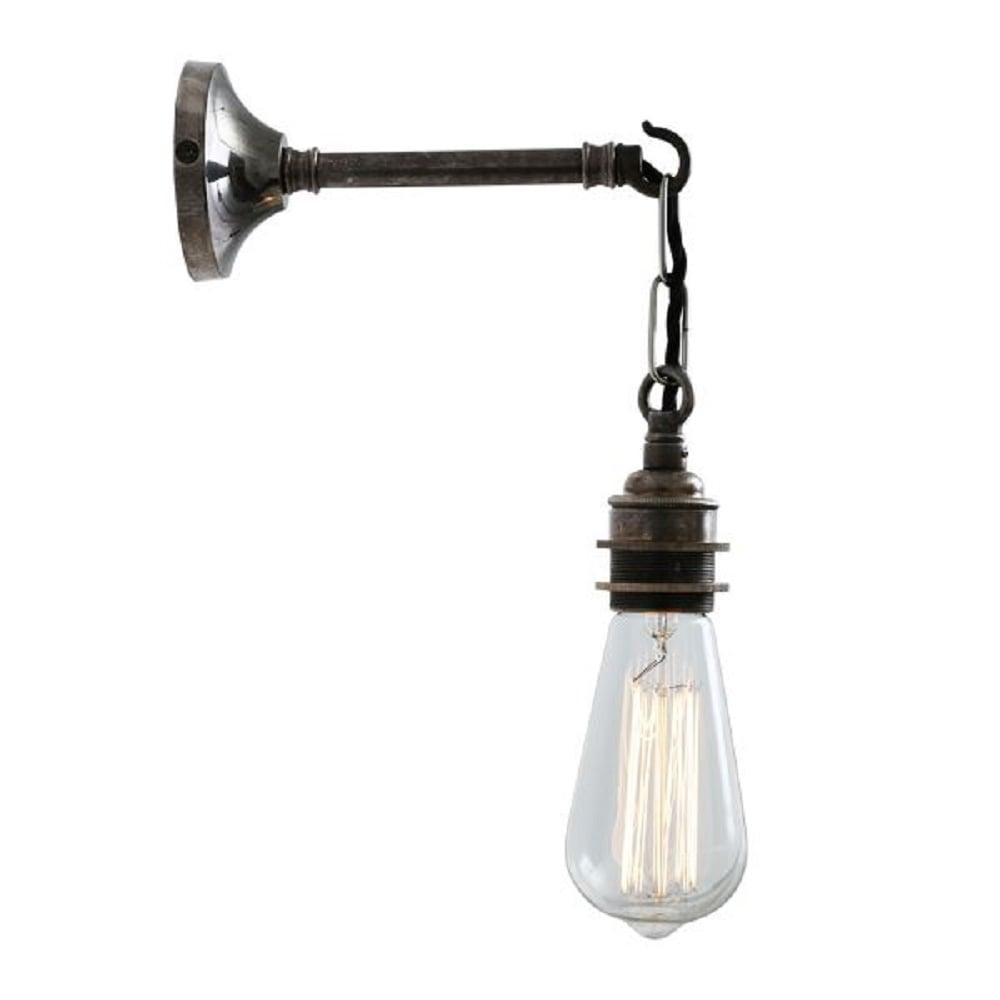 industrial lighting bare bulb light fixtures. PREI Industrial Bare Bulb Wall Light Fitting - Antique Silver Lighting Fixtures S