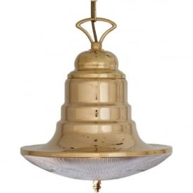 PUNTA TOP HAT Victorian nautical style solid brass ceiling pendant light