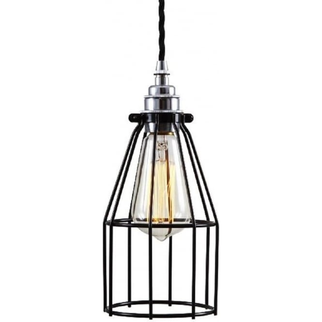 Industrial Style Metal Cage Ceiling Pendant Light In