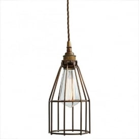 RAZE bronze industrial cage pendant ceiling light