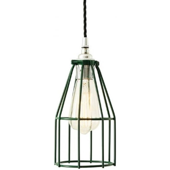 Industrial Pendant Light Green: Green Painted Metal Ceiling Pendant Light In Industriall