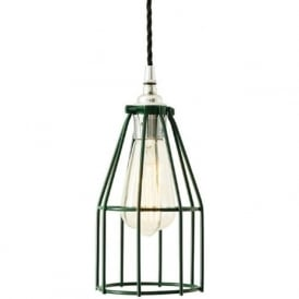 RAZE racing green industrial cage ceiling pendant light