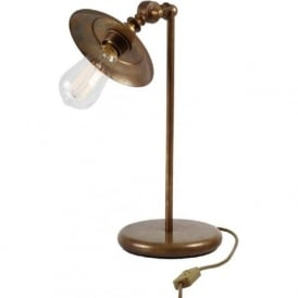 REZNOR industrial steampunk design desk lamp - antique brass