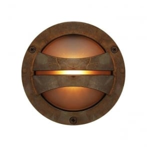 Solid brass flush fit exterior wall washer light for coastal areas seri circular surface mounted ip54 led outdoor wall light antique brass aloadofball Choice Image