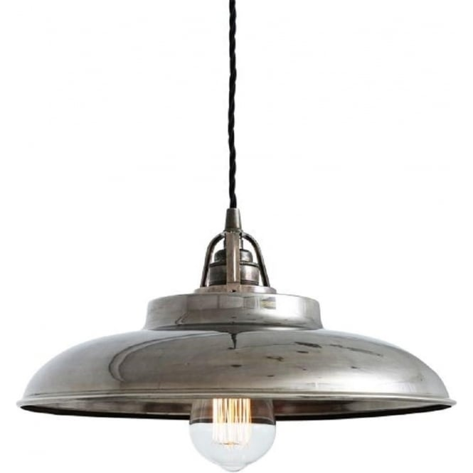 Telal Factory Style Metal Ceiling Pendant Light Antique Silver