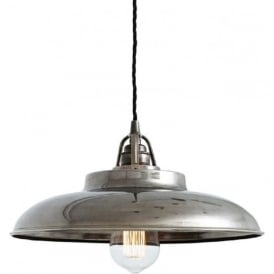 TELAL factory style metal ceiling pendant light - antique silver