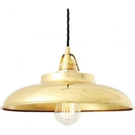 TELAL factory style metal ceiling pendant light - polished brass