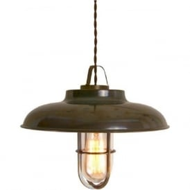 TYZER industrial style antique brass ceiling pendant light