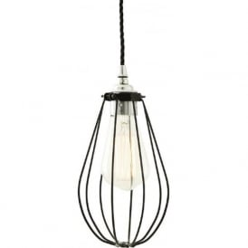VOX black vintage industrial cage ceiling pendant light