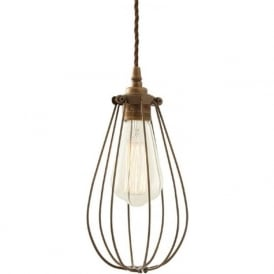 VOX bronze vintage industrial cage ceiling pendant light