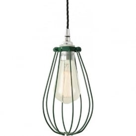 VOX racing green vintage industrial cage ceiling pendant light