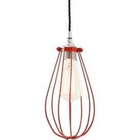 VOX red vintage industrial cage ceiling pendant light