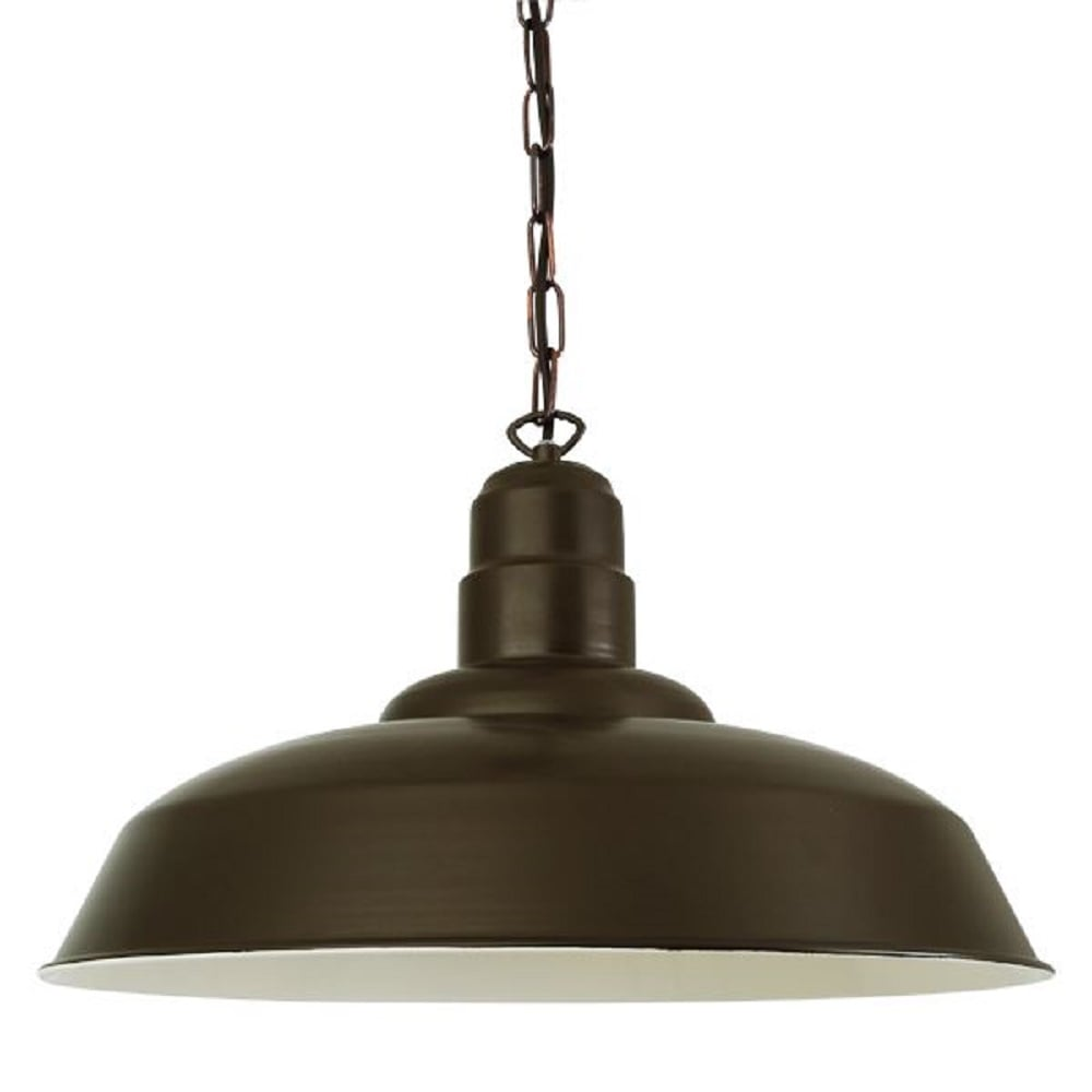 Large overhead table pendant light in bronze finish aluminium for Metal hanging lights