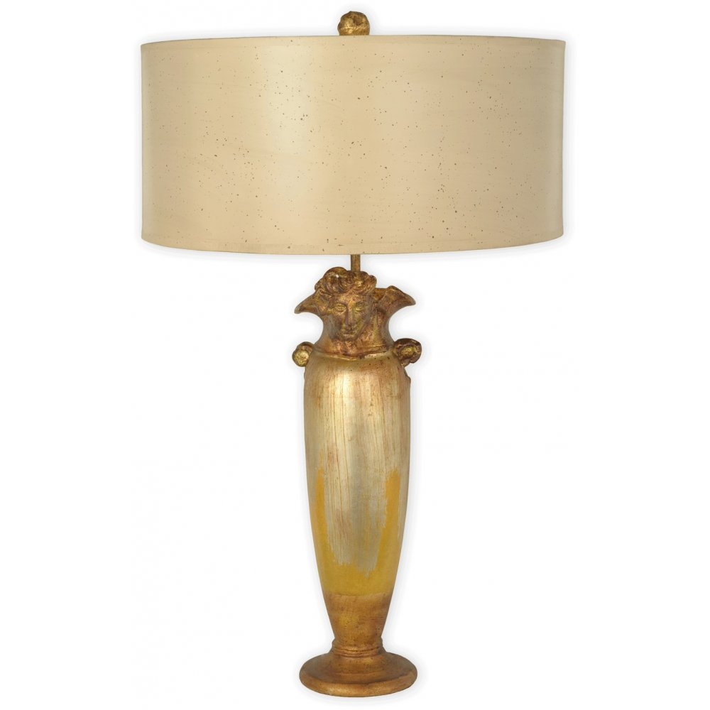 ... Orleans Lighting BIENVILLE designer gold base table lamp with shade
