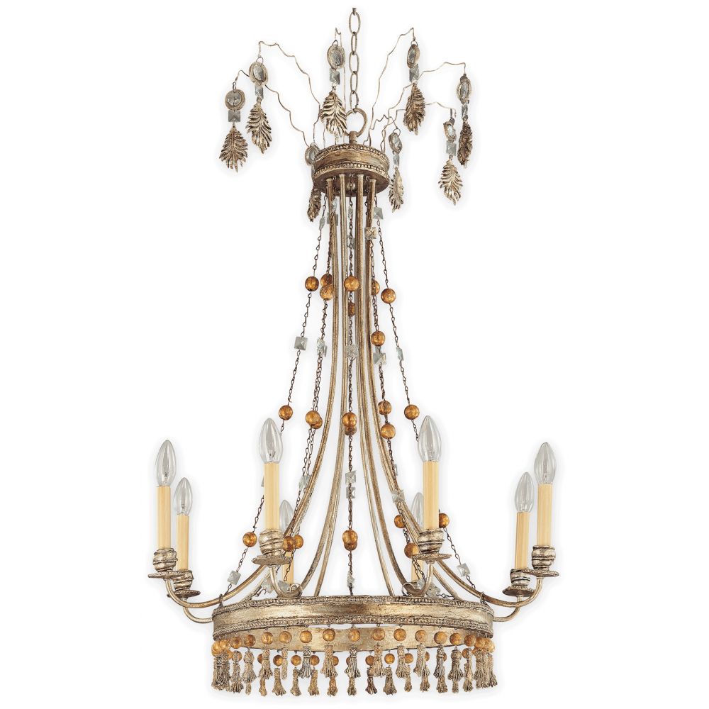 vintage french style gold chandelier in slighty quirky design. Black Bedroom Furniture Sets. Home Design Ideas