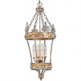 CROWN decorative silver and gold hall lantern
